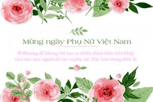 Ngày 20/10 - Mừng ngày phụ nữ Việt Nam - Happy Vietnam Womens Day