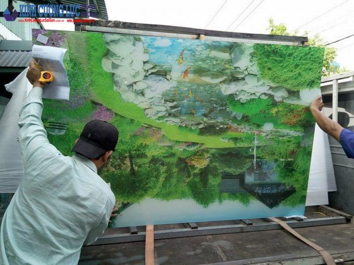Quy trình thi công tranh kính nghệ thuật